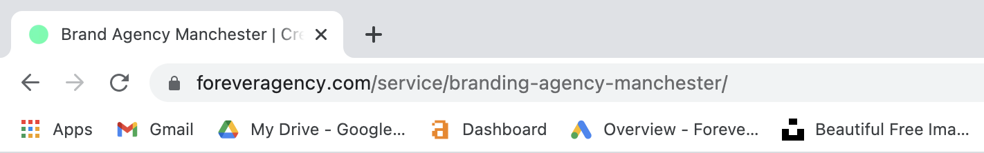 A picture of a search engine address bar - SEO site audit